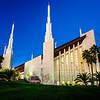 Las Vegas LDS Temple in the evening