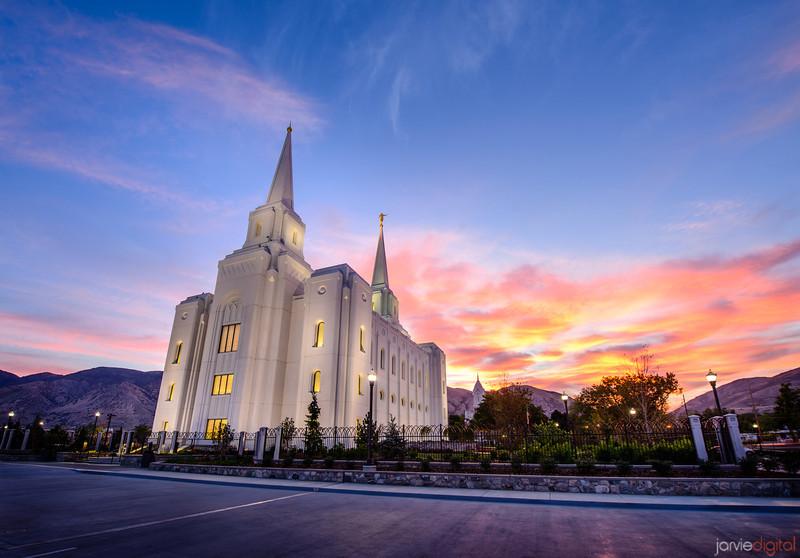 Brigham City Temple at Sunrise