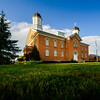 Vernal Utah LDS Temple - Late summer day
