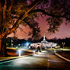 Baton Rouge Temple Framed Night Red