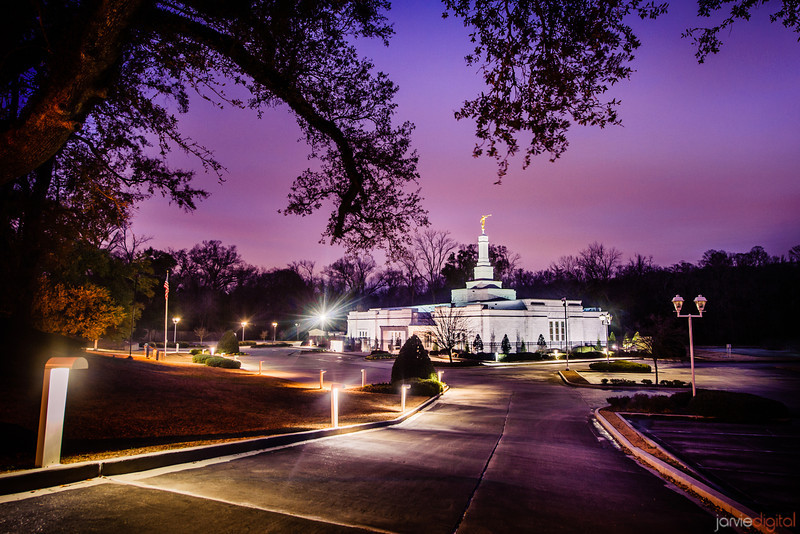 Baton Rouge Temple Framed Twilight Purple