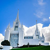 San Diego LDS Temple - Cloudy spring day