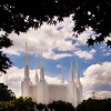 Washington DC LDS Temple - Mid Summer day