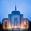 Vancouver LDS Temple - Rainy winter morning