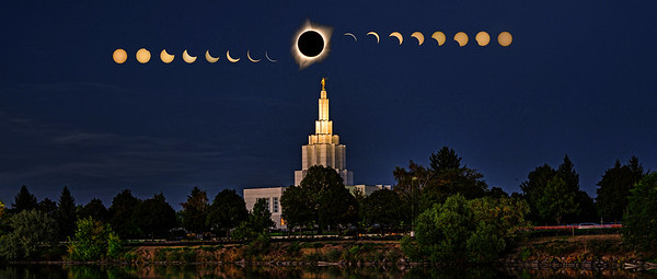 Idaho falls temple eclipse 3