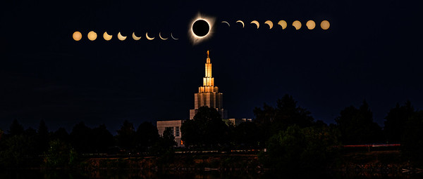 Idaho falls temple eclipse 2