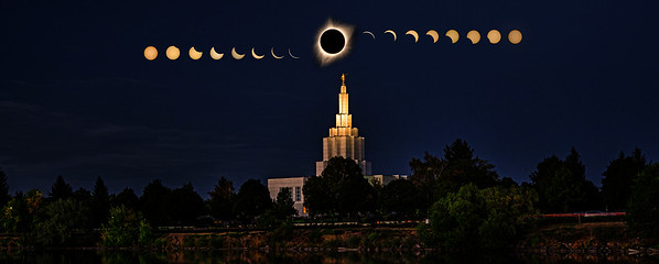 Idaho falls temple eclipse