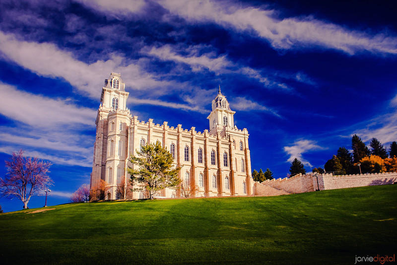 Manti Temple Blue Skies