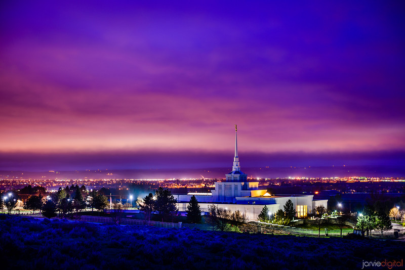 Billings  Temple Twilight Corner