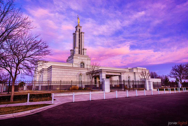 Lubbock Temple Front Left Sunrise