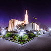 Los Angeles Temple Night (Corner)