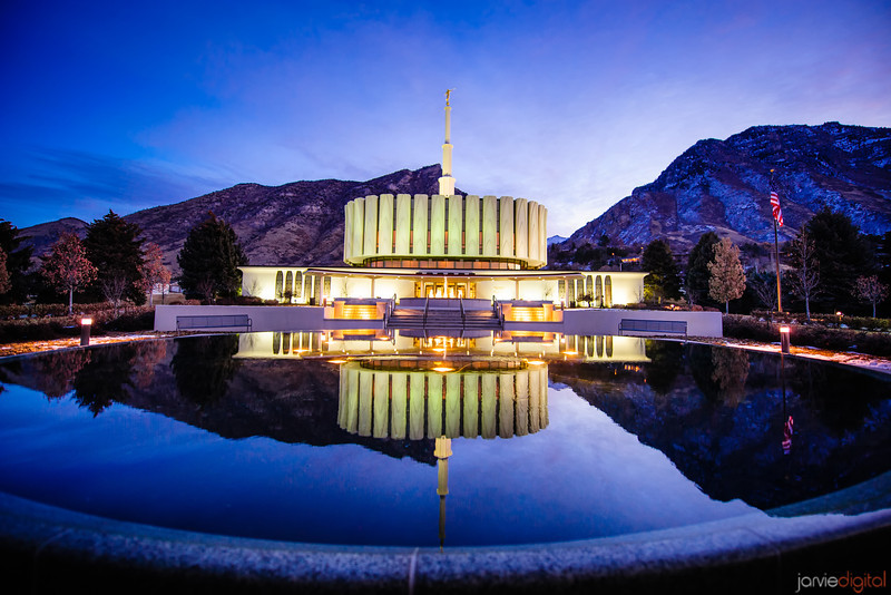 Provo Temple Reflection
