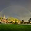 Full Rainbow over Provo City Center Temple