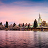 Idaho Falls Temple Sunrise with River