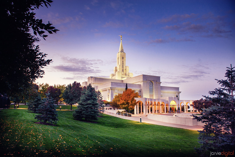 Bountiful Temple Fall Sunrise