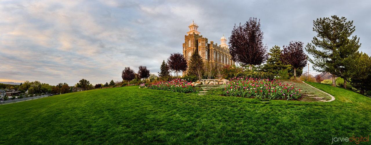 77MP - Logan Temple springtime Panorama