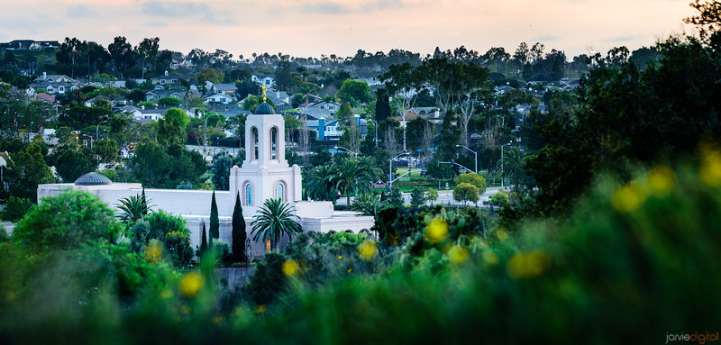 Newport Beach Temple - From the hills (Pano)