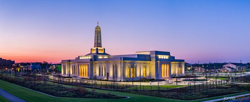 Indianapolis Temple - Corner Sunrise