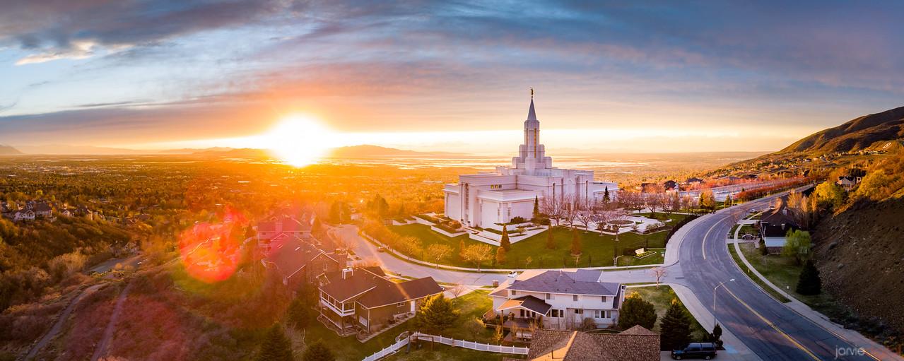 Bountiful Temple - Sunset Panorama