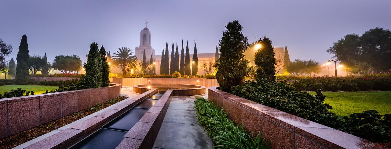 Newport Beach Temple - Living Fountain (Pano)
