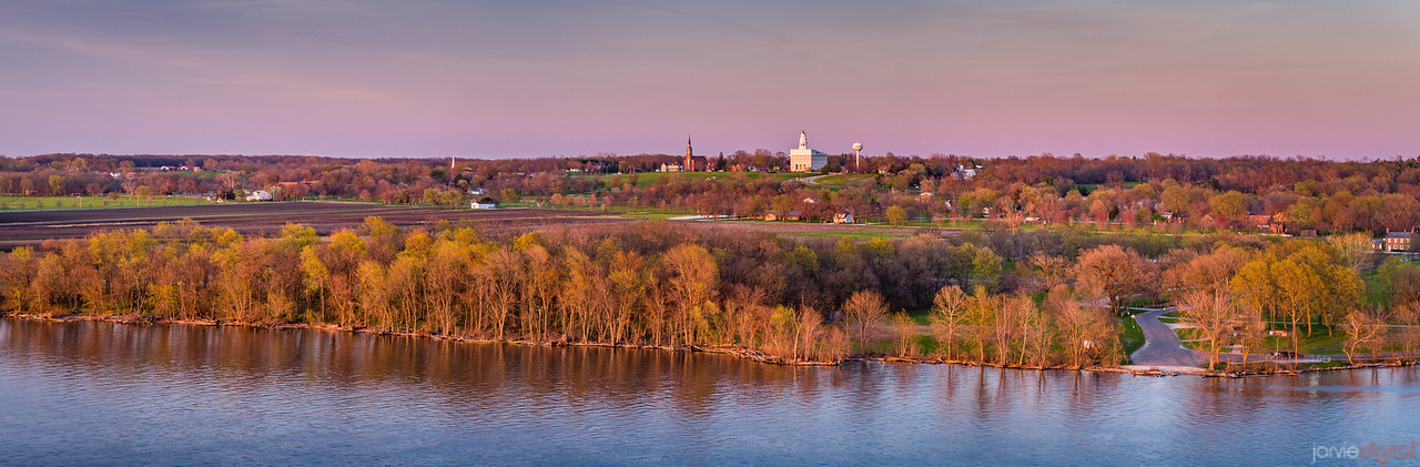 Nauvoo Temple - In the distance