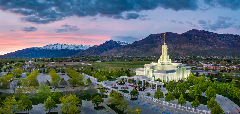 Timpanogos Temple - Nestled in the Mountains