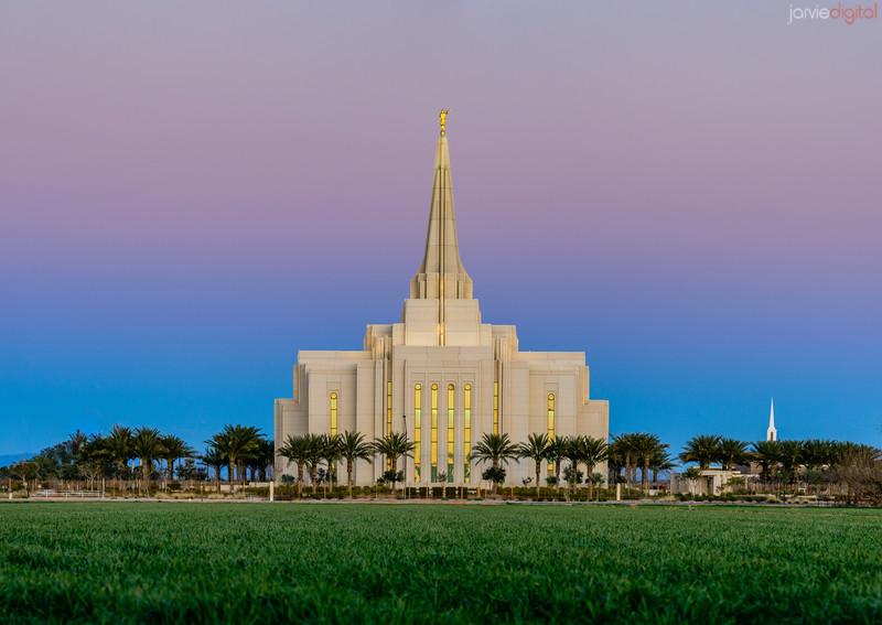 Gilbert LDS Temple Calm Twilight