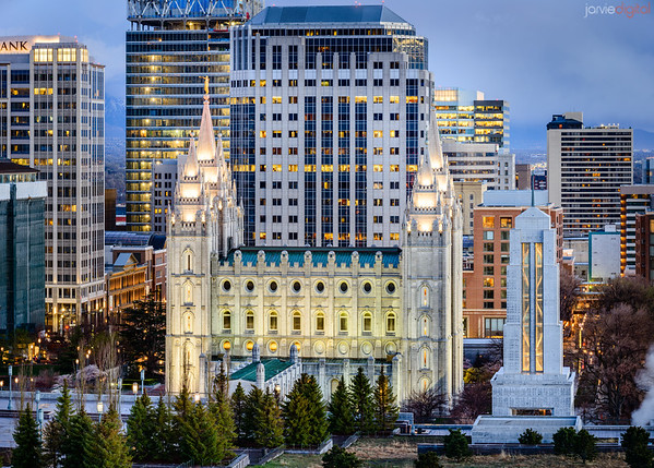 Salt Lake City Temple - Nestled into the city