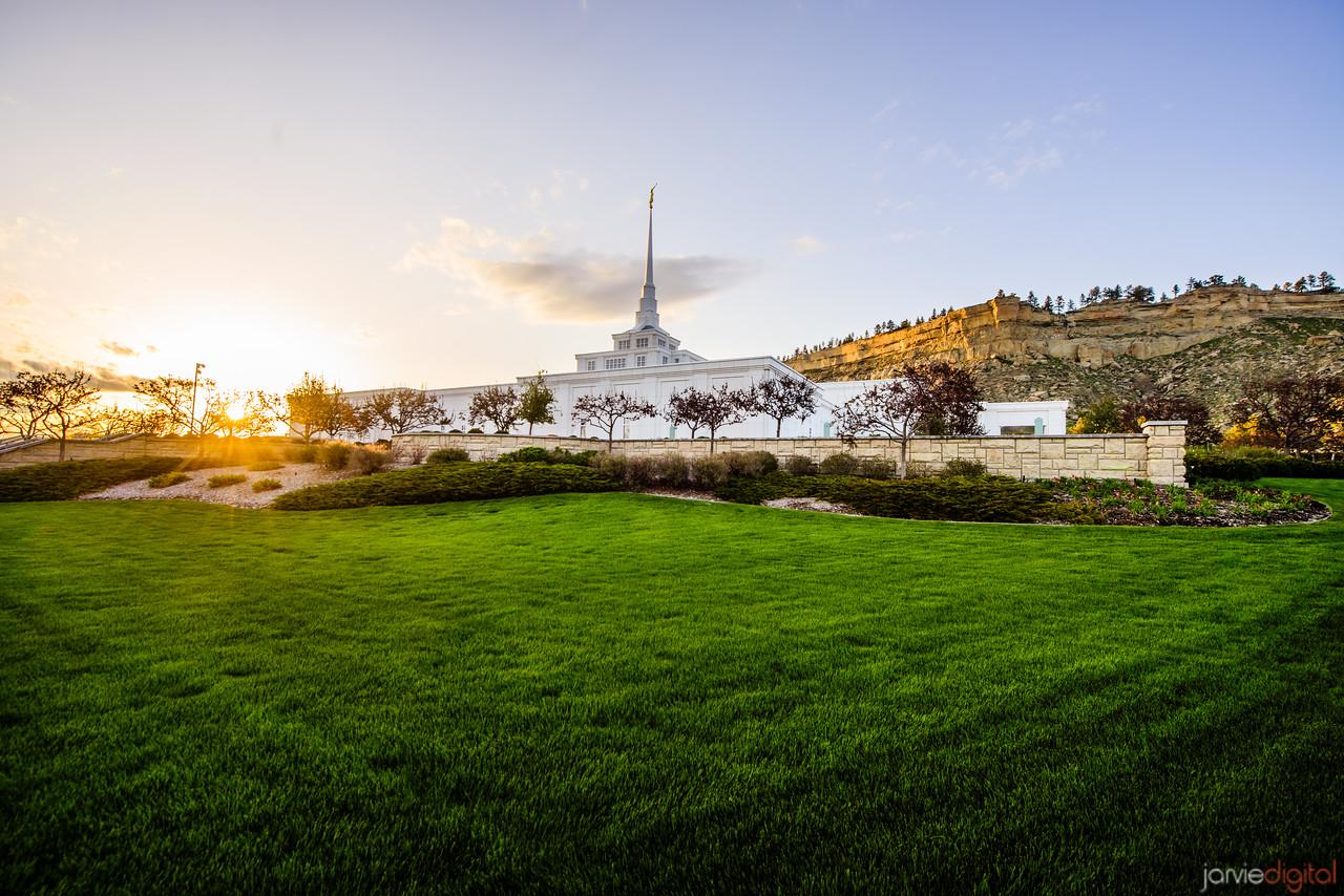 Billings Montana Temple Sunset