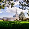 Billings Montana Temple Through Trees