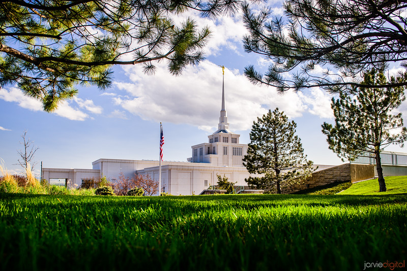 Billings Montana Temple Through Trees