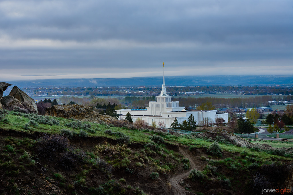 Billings Temple Path from hill