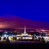 Billings Temple Twilight Hill