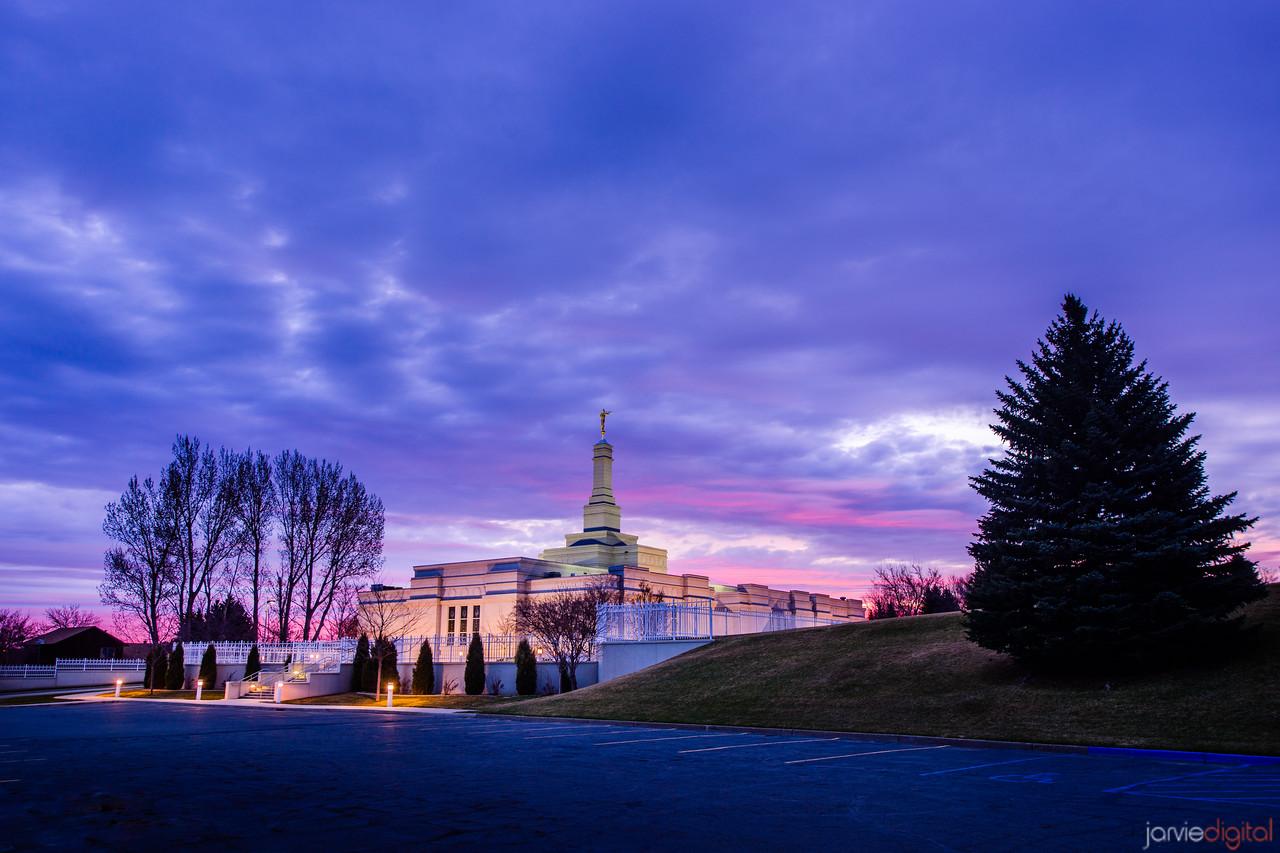 Bismark Temple Sunrise Parking lot