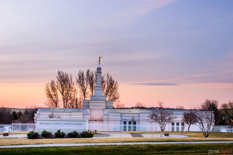 Bismark Temple Sunset Sign