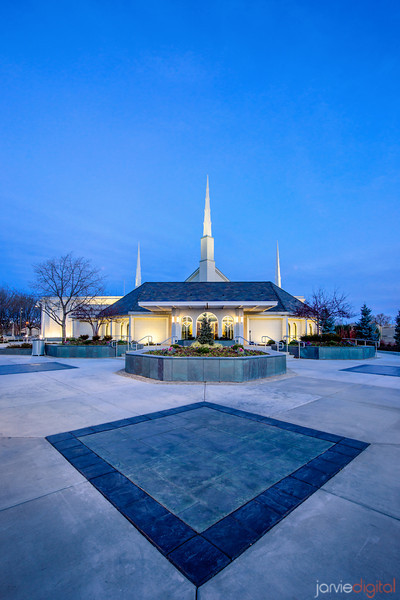 Boise Temple Evening (Entrance)