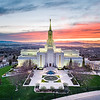 Bountiful Temple - Sunset from above