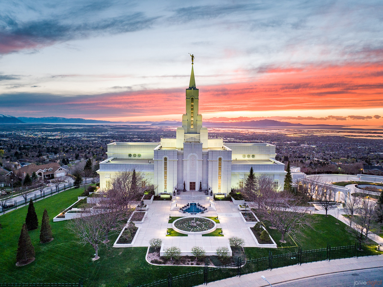 Bountiful Temple Sunset