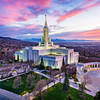 Bountiful Temple - A sunset across the valley