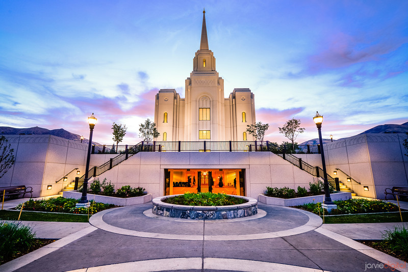 Brigham City Temple Entrance