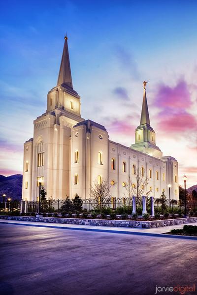 Brigham City Temple Sunrise (Verticle)