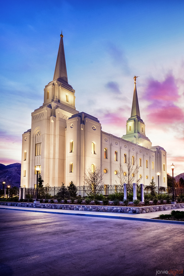 Brigham City Temple Sunrise (Verticle)