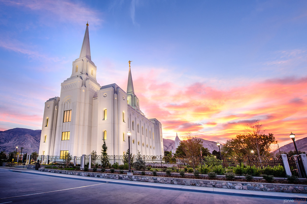 Brigham City Temple Sunrise (Horizontal)