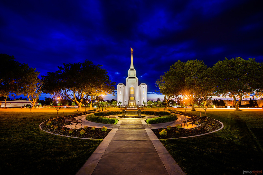Brigham City Temple Across Street