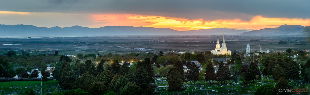 100MP - Brigham City valley at sunset