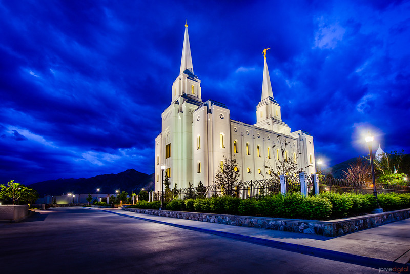 Brigham City Temple Blue Skies