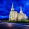 Brigham City Temple Blue Skies