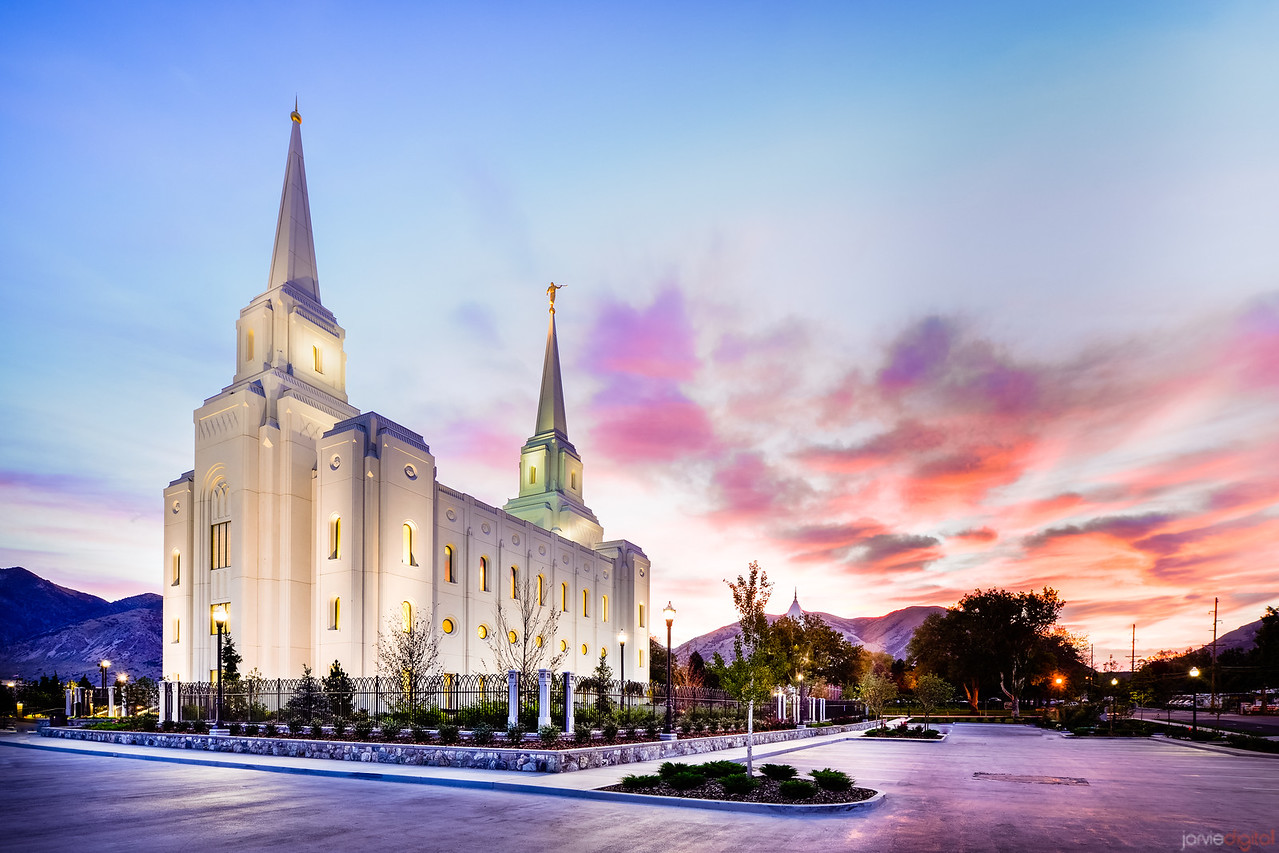 Brigham City Temple - Sunrise Pastel