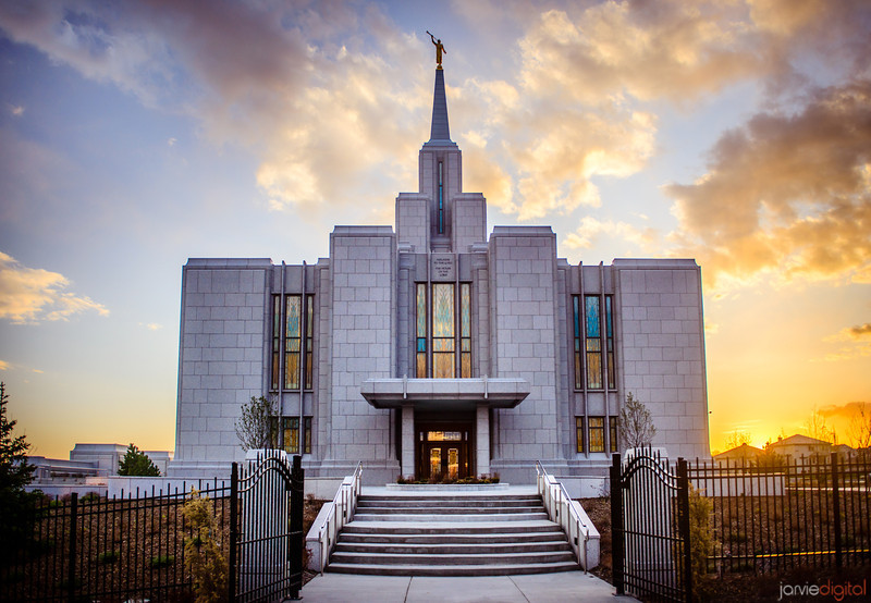 Calgary Temple Sunset
