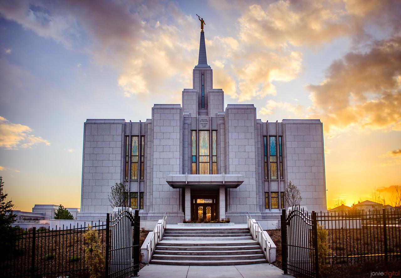 Calgary Temple Sunset